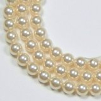 "100 Swarovski Crystal Pearls 4mm Round Beads 5810. 16"" Loose Strand Cream"