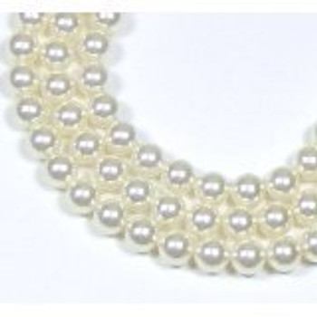 "100 Swarovski Crystal Pearls 4mm Round Beads 5810. 16"" Loose Strand White"