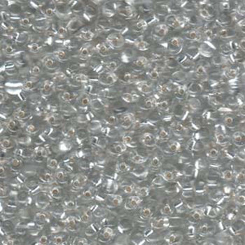 Clear Silver Lined Miyuki 3.4mm Fringe Seed Bead Glass Tear Drops 20 Gram Dp-9001-Tb
