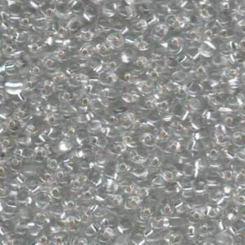 Clear Silver Lined Miyuki 3.4mm Fringe Seed Bead Glass Tear Drops 20 Gram Dp-9001-Tb