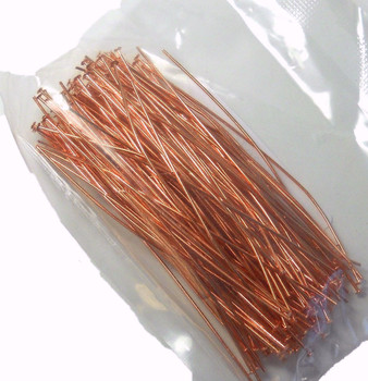 144 Head Pins 029Dia x 3 Inch Copper Plated St Ard 21 Gauge Wire Hdp0293Cp