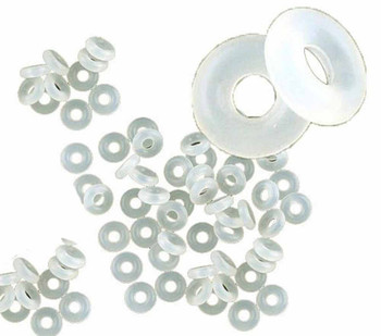500 Stop Beads Inserts Silicone Rubber Donut Spacers Fits European Charm Bracelets Clip A1-Chsilicone
