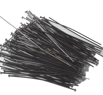 144 Head Pins 029Dia x 2 Inch Gumetal Plated St Ard 21 Gauge Wire Hdp0292Bo