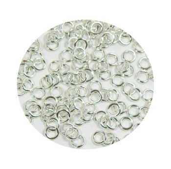 400 Jump Rings Silver-Plated Brass 5mm Round 18 Gauge Open Approx 3mm Inside Z-G-080526192418-Sp