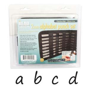 Handwritten Lowercase Punch 27pc Set W/case(2mm)