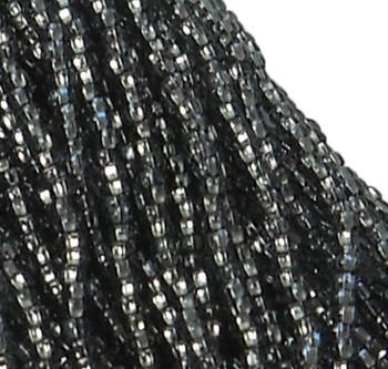 Czech 11/0 Glass Seed Beads 1-6 String Hank Preciosa Silver Lined Black Diamond Sb1147010
