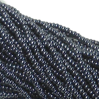 Czech 11/0 Glass Seed Beads 1 (6 String Hank) Preciosa Opaque Gunmetal Sb1149102