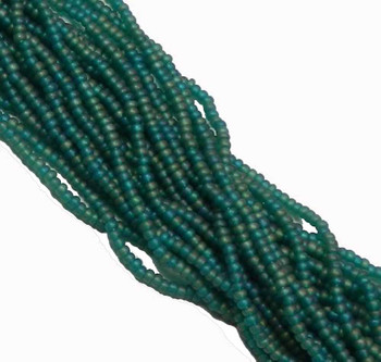 Czech 11/0 Glass Seed Beads 1 (6 String Hank) Preciosa (Ab Emerald Matte) Sb1151710M