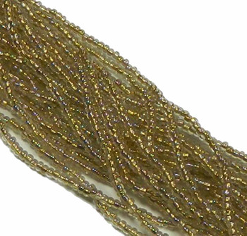 Czech 11/0 Glass Seed Beads 1-6 String Hank Preciosa Bronze Lined Crystal Ab Sb1168506