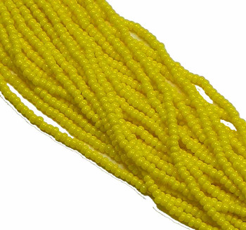 Czech 11/0 Glass Seed Beads 1 (6 String Hank) Preciosa (Opaque Yellow) Sb1183110