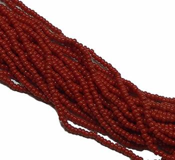 Czech 11/0 Glass Seed Beads 1 (6 String Hank) Preciosa (Opaque Dark Red) Sb1193210