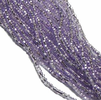 Purple Solgel Silver Lined Czech 8/0 Glass Seed Beads 12 Strand Hank Preciosa Sb8-78123