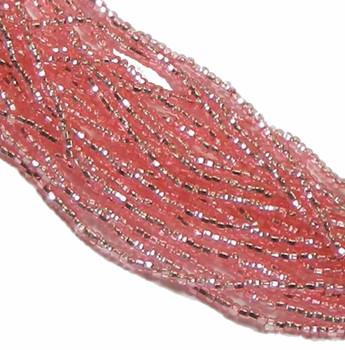 Pink Solgel Silver Lined Czech 8/0 Glass Seed Beads 12 Strand Hank Preciosa Sb8-78191