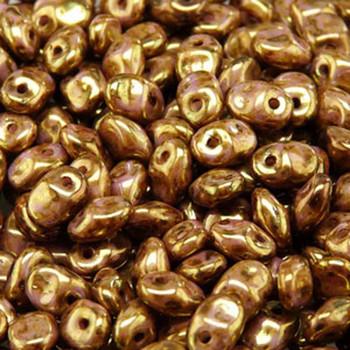 Senegal Brown/Purple 2.5x5mm 1 One Hole Fringe Czech Glass Seed Beads 20 Grams Un0503000-15695-Tb