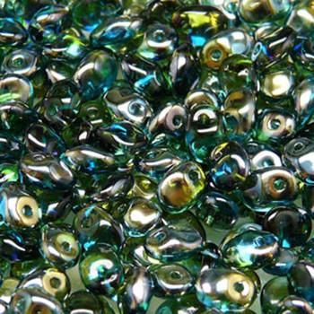 Aqua Green Celsian 2.5x5mm 1 One Hole Fringe Czech Glass Seed Beads 20 Grams Un0560020-22501-Tb
