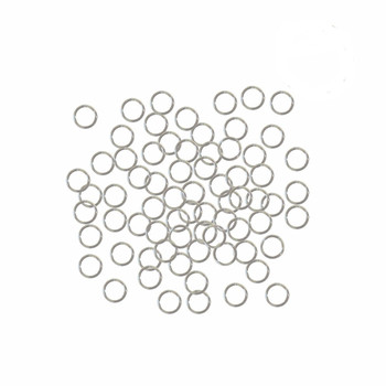 5mm Round 21 Gauge 400 Jump Rings Silver-Plated Brass 5mm Round 21 Gauge. Open 3.6mm Inside Z-G-080526044727-Sp