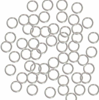 400 Jump Rings Silver-Plated Brass 7mm Round 18 Gauge Open 5mm Inside Z-G-080526083114-Sp