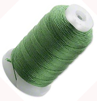 Silk Beading Thread Cord Size E Dark Green 0.0128 Inch 0.325mm Spool 200 Yd 5079Bs