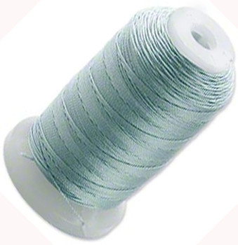 Silk Beading Thread Cord Size E Pale Green 0.0128 Inch 0.325mm Spool 200 Yd