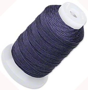 Silk Beading Thread Cord Size F Navy Blue 0.0137 0.3480mm Spool 140 Yd 5117Bs