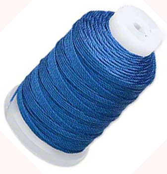 Silk Beading Thread Cord Size E Royal Blue 0.0128 Inch 0.325mm Spool 200 Yd 5124Bs