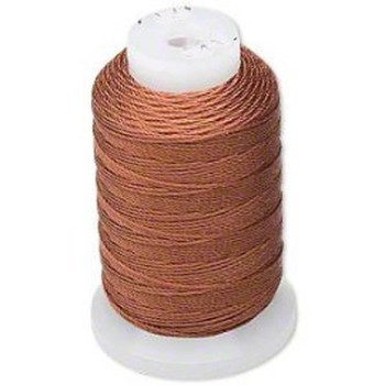 Silk Beading Thread Cord Size Ff Brown 0.015 Inch 0.38mm Spool 115 Yd 5191Bs