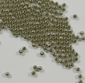 300 Beads Imitation Nickel-Plated Brass 2.5mm Smooth Round Spacer Metal 7367Mb