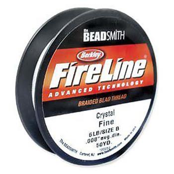 """6Lb Fireline Braided Bead Thread .006"""" .15mm Crystal Clear Fl06Cr50"""
