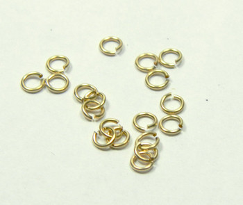 20 Jump Rings 14kt Gold-filled 4mm Round  22 Gauge Open