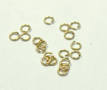 20 Jump Rings 14Kt Gold-Filled 4mm Round 22 Gauge Open 2294Fd