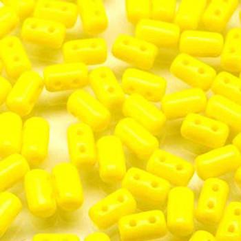 Rulla Lemon Czech Glass Seed Beads 3x5mm 20 Gram Tube (2 Hole) Rul3583120-Tb