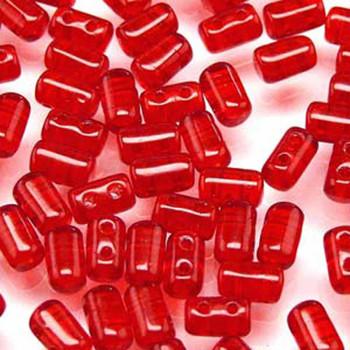Rulla Ruby Czech Glass Seed Beads 3x5mm 20 Gram Tube (2 Hole) Rul3590080-Tb