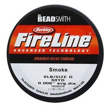 """6Lb Fireline Braided Bead Thread .006"""" .15mm Smoke Grey Fl06Sg50"""