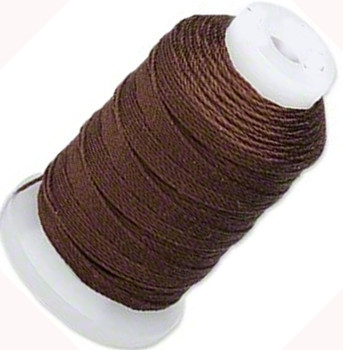 Simply Silk Beading Thick Thread Cord Size FFF (0.016 Inch 0.42mm) Spool 92 Yards Compatible with Kumihimo Super Lon (Chestnut)