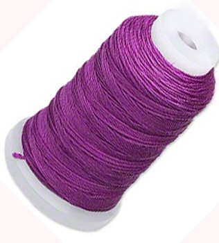 Simply Silk Beading Thick Thread Cord Size FFF (0.016 Inch 0.42mm) Spool 92 Yards Compatible with Kumihimo Super Lon (Plum)