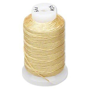 Silk Beading Thread Cord Size Fff (0.016 Inch 0.42mm) Spool 92 Yd(Gold) 5067Bs