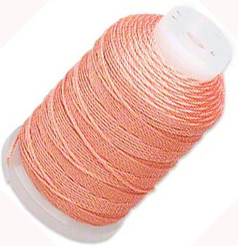 Simply Silk Beading Thick Thread Cord Size Fff (0.016 Inch 0.42mm) Spool 92 Yards Compatible With Kumihimo Super Lon (Tangerine) 5166Bs