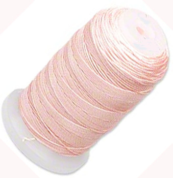 Simply Silk Beading Thick Thread Cord Size Fff (0.016 Inch 0.42mm) Spool 92 Yards Compatible With Kumihimo Super Lon (Pink) 5058Bs