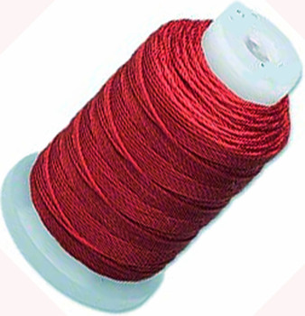 Simply Silk Beading Thick Thread Cord Size FFF (0.016 Inch 0.42mm) Spool 92 Yards Compatible with Kumihimo Super Lon (Maroon)