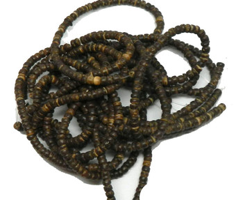 Rockin Beads 3-4mm Heishi Brown Coconut Wood Beads 10+ Feet Of Beads Rb18329