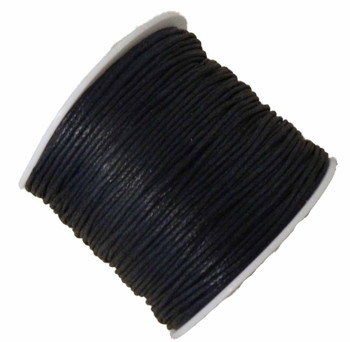 1mm Waxed Cotton Jewelry Macrame Craft Cord 80 Yards Wolven Round Black