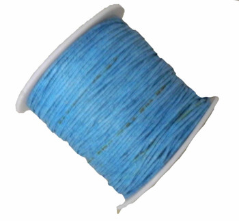 Copy Of 1mm Waxed Cotton Jewelry Macrame Craft Cord 80 Yards Wolven Round Ligh Blue Gt-080219071505-1Ltbl