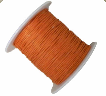 1mm Waxed Cotton Jewelry Macrame Craft Cord 80 Yards Wolven Round Orange Gt-080219071505-1Or