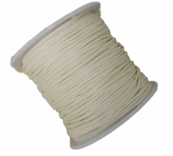 1mm Waxed Cotton Jewelry Macrame Craft Cord 80 Yards Wolven Round Off White Gt-080219071505-1Ofwh