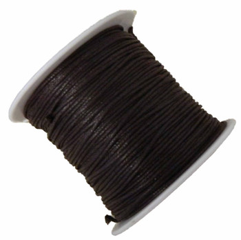 Waxed Cotton Jewelry Macrame Craft Cord 80 Yards Wolven Round Brown Gt-080219071505-1Br