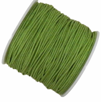 Waxed Cotton Jewelry Macrame Craft Cord 80 Yards Wolven Round Green Gt-080219071505-1Gr