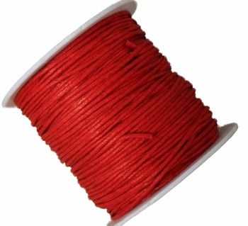 1mm Waxed Cotton Jewelry Macrame Craft Cord 80 Yards Wolven Round Red Gt-080219071505-1Rd