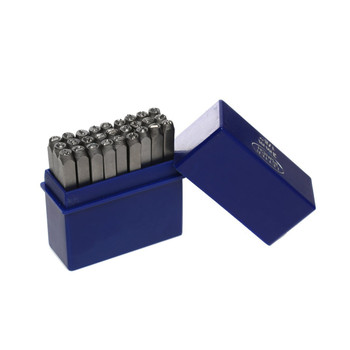 """27 Letter With & Sign Stamp Punch Set 1/8"""" 3mm Hardened Steel For Metal Wood, Leather Rb34098"""