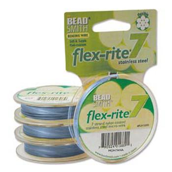 "Montana Flex Rite Beading Wire .018"" 30' 7 Strand 20.6Lb Break Fl7x018Mo30"