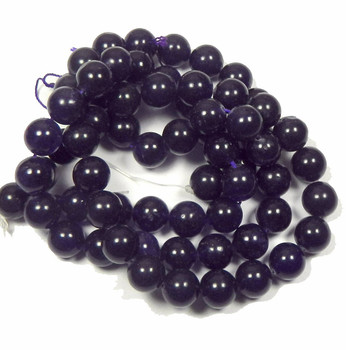 "12mm Amethyst Dyed Round Beads 15"" Stone B2-12D11"